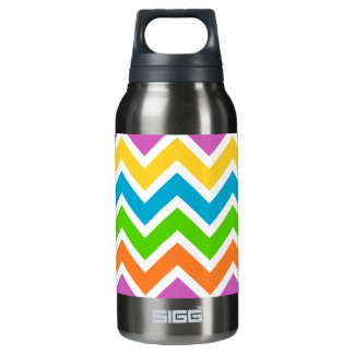Bright Chevron Pattern Insulated Water Bottle