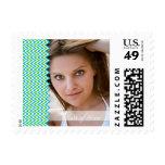 Bright chevron photo graduation postage stamps