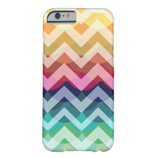 Bright Chevron Scallop Summer Pattern iPhone 6 cas Barely There iPhone 6 Case