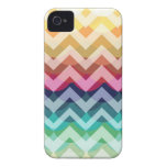 Bright Chevron Scallop Summer Pattern iPhone Case iPhone 4 Cases