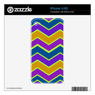 Bright Chevron Trimmed Yellow iPhone 4 Skins