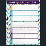 "Bright Chevron Weekly List Dry Erase Board<br><div class=""desc"">Bright and colorful chevron weekly chore list dry erase board by WRKDesigns.</div>"