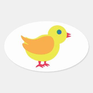 Bright Chick Oval Sticker
