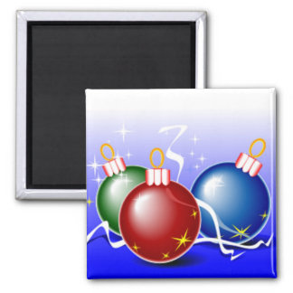 Bright Christmas Baubles Magnets
