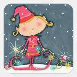 Bright Christmas Elf Stickers
