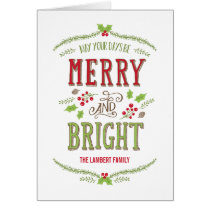 Bright Christmas Holiday Greeting Card