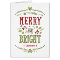 Bright Christmas Holiday Greeting Card at Zazzle
