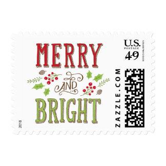 Bright Christmas Holiday Postage