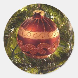 Bright  Christmas ornament Classic Round Sticker