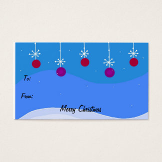 Bright Christmas Ornament Gift Tag