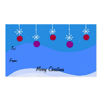 Bright Christmas Ornament Gift Tag Business Card