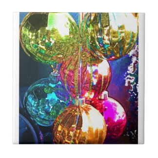 Bright Christmas Ornaments Ceramic Tile