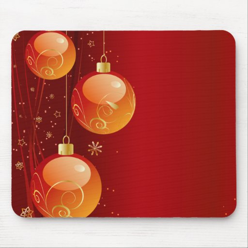 Bright Christmas ornaments Mousepad