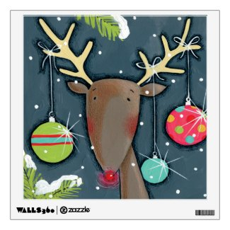 Bright Christmas Reindeer Wall Graphics