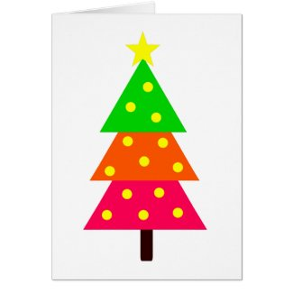 Bright Christmas Tree Personalized Card