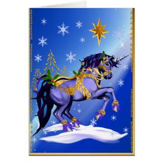 Bright Christmas Unicorn Card