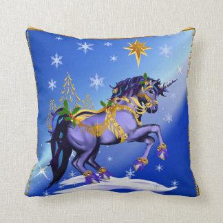 Bright Christmas Unicorn Pillow