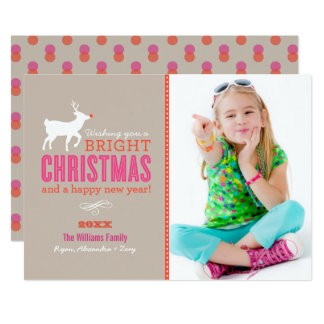 Bright Christmas Wishes Photo Card | Sand