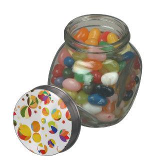 Bright circle glass jars