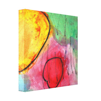 'Bright Circles' 12 x 12 Canvas