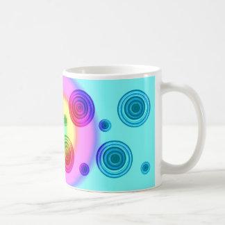 bright circles coffee mug