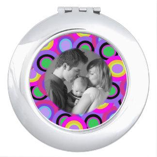 Bright Circles Custom Photo Vanity Mirror