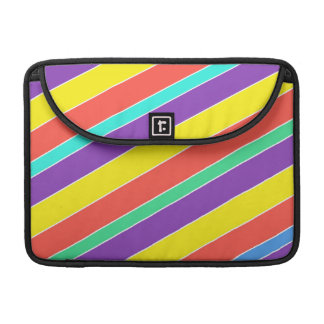 Bright Circus Color Stripes MacBook Pro Sleeve