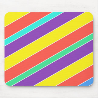 Bright Circus Color Stripes Mouse Pad
