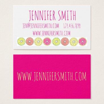Professional Business Bright Citrus Fruit Lemon Lime Chef Business Cards