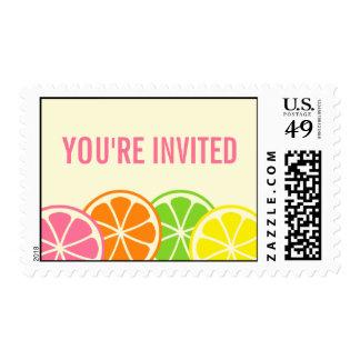 Bright Citrus Slices Postage
