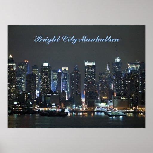Bright City Manhattan Posters