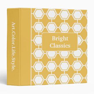 Bright Classics Yellow Hexagon Pattern Custom Binder