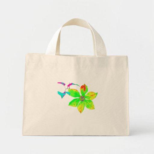 Bright Clematis Flower Mini-Bag