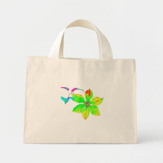 Bright Clematis Flower Mini-Bag Mini Tote Bag