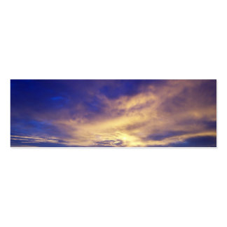 Bright Clouds Profile Card Double-Sided Mini Business Cards (Pack Of 20)