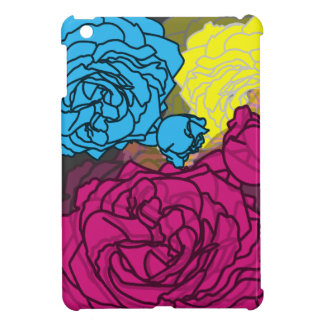 Bright CMYK Pop Art Roses for iPad Mini iPad Mini Covers