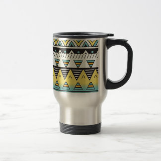 Bright Color Aztec 15 Oz Stainless Steel Travel Mug