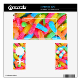 Bright Color Gummy Worms Nintendo 3DS Skin
