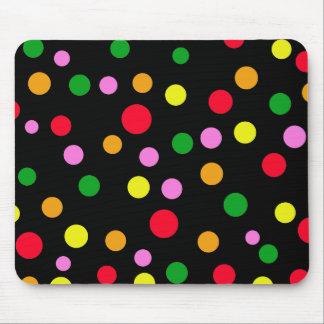 Bright Color Polka Dots Mousepads