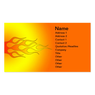 bright color racing flames Double-Sided standard business cards (Pack of 100)