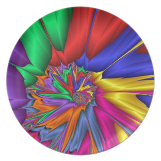 Bright Color Spiral Dinner Plate