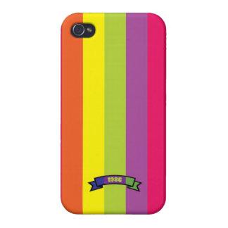 Bright Color Stripe Pattern iPhone 4 Case