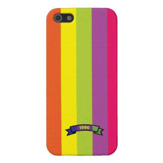 Bright Color Stripe Pattern iPhone 5 Case