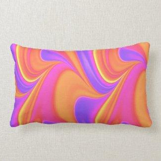 Bright Color Swirl Lumbar Pillow