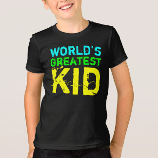 Bright Color World's Greatest Kid T-Shirt