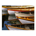 Bright colored boats at the Wooden Boat Center Post Cards