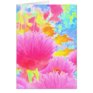 Bright Colored Chive Greeting Card