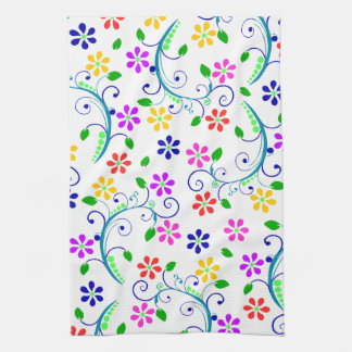 Bright Colored Floral American MoJo Kitchen Hand Towel