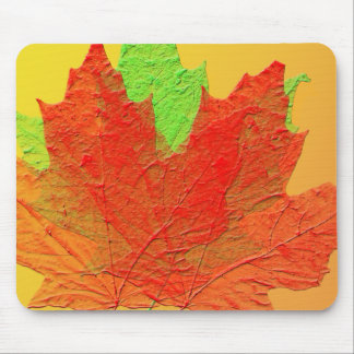 Bright colored leaves mousepad