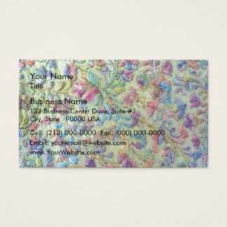 Bright colored mexican dress business card